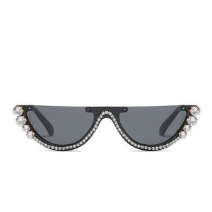 Jeweled Rhinestone Cat Eye Sunglasses