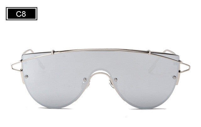 Tinted Frames Square Sunglasses