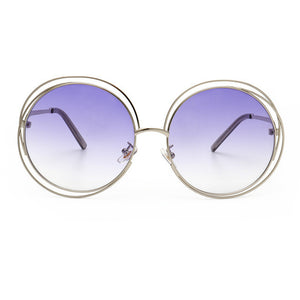 Oversize Unique Round Wire Sun Glasses