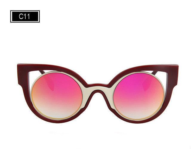 New Luxury Brand Designer Classic Cat Eye Style Sunglasses
