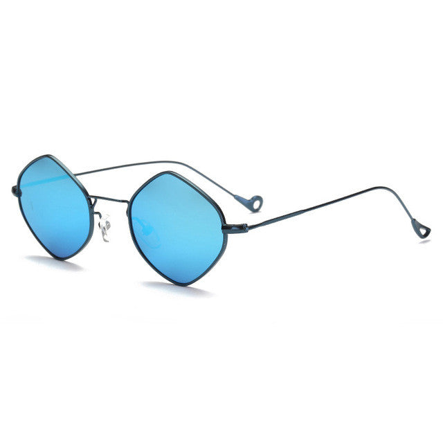 Small Rhombus Alloy Frame Sunglasses
