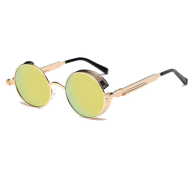 Metal Round Steampunk Sunglasses
