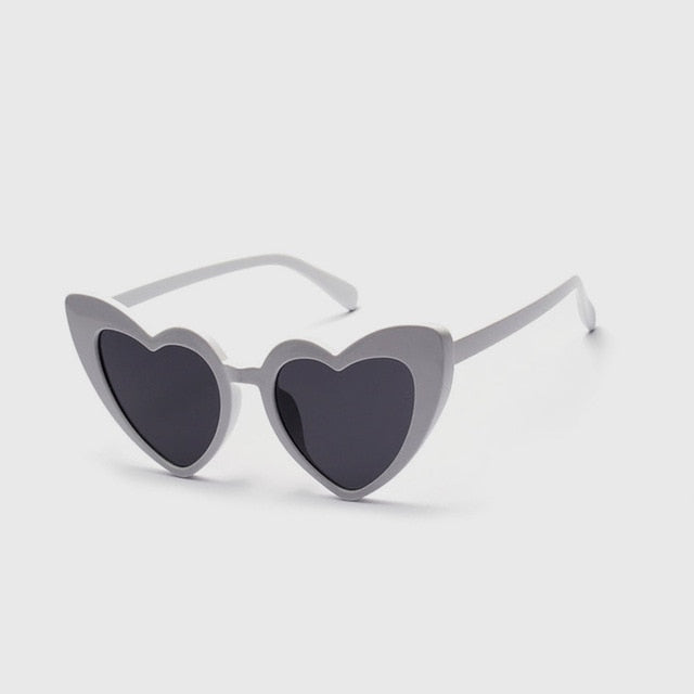Glittery Love Heart Sunglasses