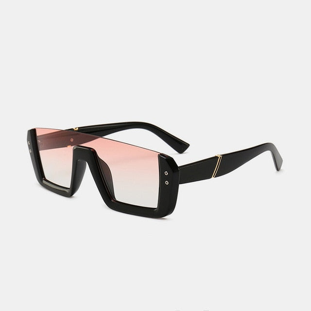 New Fashion Semi-Rimless Square Sunglasses