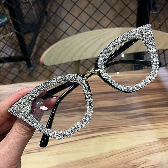Vintage Cat Eye Rhinestone Eyewear