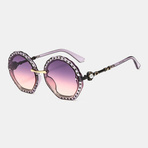 Luxury Rhinestone Designer Sun Glasses
