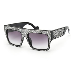 Luxury Crystal Oversize Sunglasses