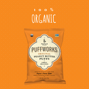 Puffworks All-Natural Peanut Butter Puffs Go Organic