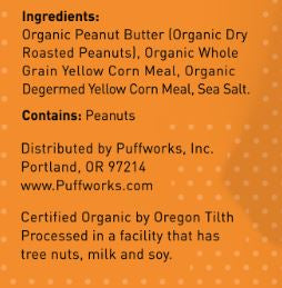 Puffworks baby Organic Peanut Butter Puffs