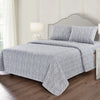 Softan Queen Bed Sheet Set, 4 PC Branch Printed Brushed Microfiber Elegant Bedding Set