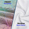 Mermaid Tail Blanket Rainbow Foil Pink Tail