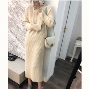 Loose Comfy Thick Sweater Dress
