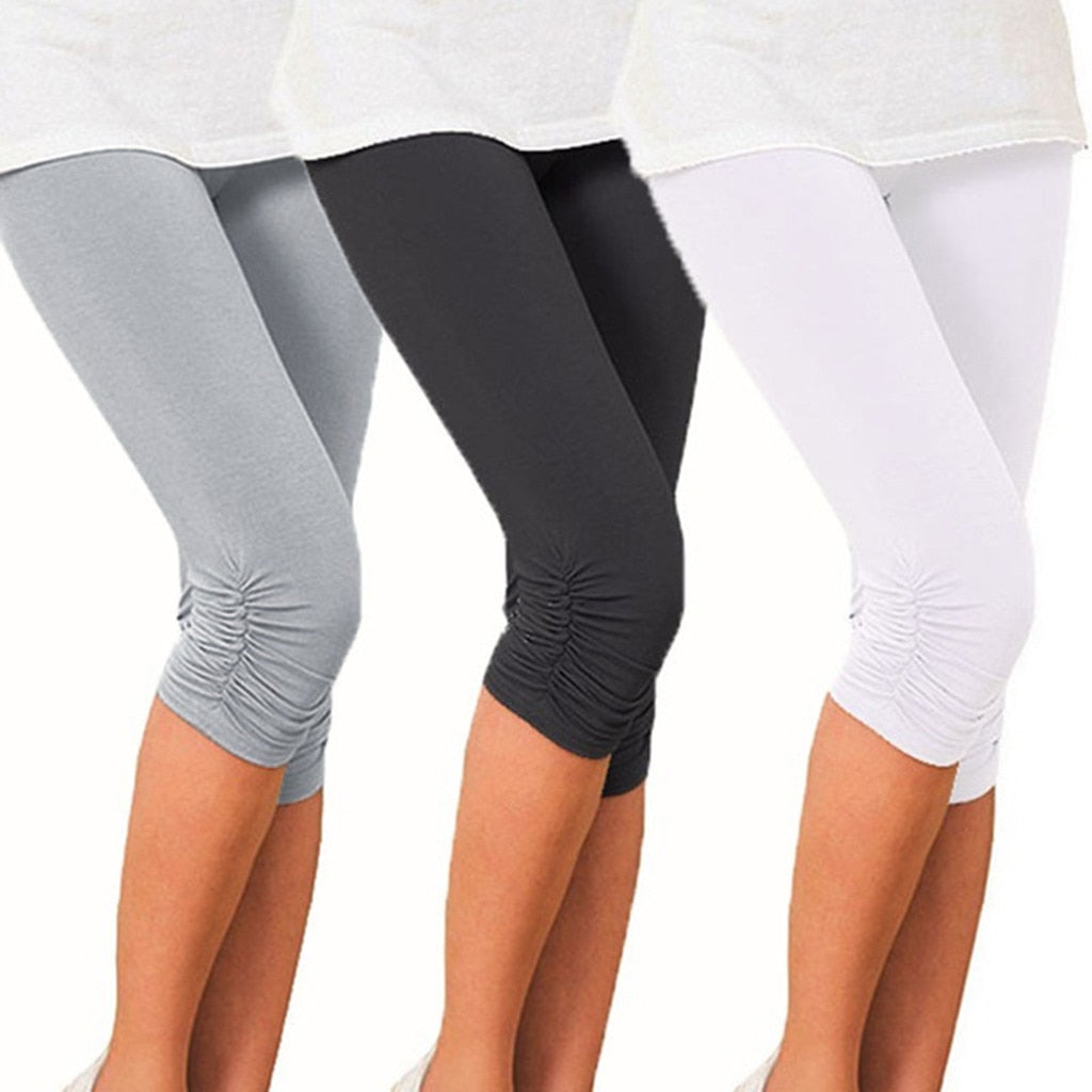Leggings With Ruching Detail at the Knee