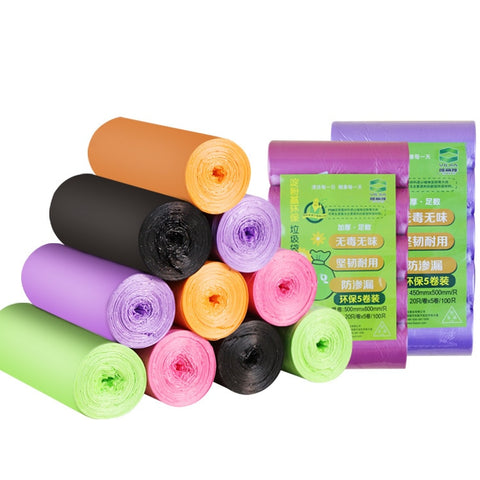 100pcs/pack 45x50cm Starch Compostable Trash Bags