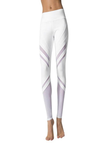 High Waist Slim Legging in White