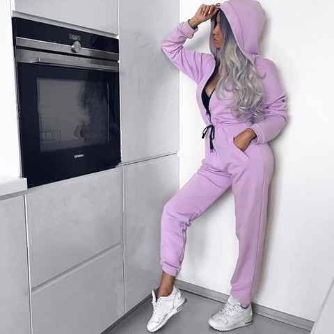 Leisure Hooded Jumpsuit