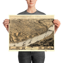 Bird's eye view of Kansas City 1869 Poster