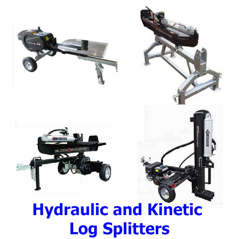 Log Splitters. A collection of top quality Millers Falls Black Diamond hydraulic and kinetic log / wood splitters to take the time and effort out of splitting firewood for professional and home users.