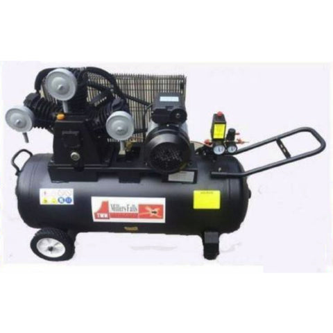 Millers Falls ACB30100B 3HP 100 Litre Belt Driven Electric Air Compressor 1