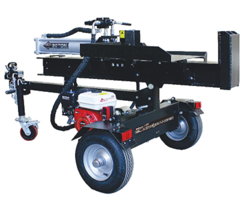 Hydraulic Log Wood Splitter Black Diamond 30 Ton Manual Start Honda GX200  Engine #LS30JTTBDHO