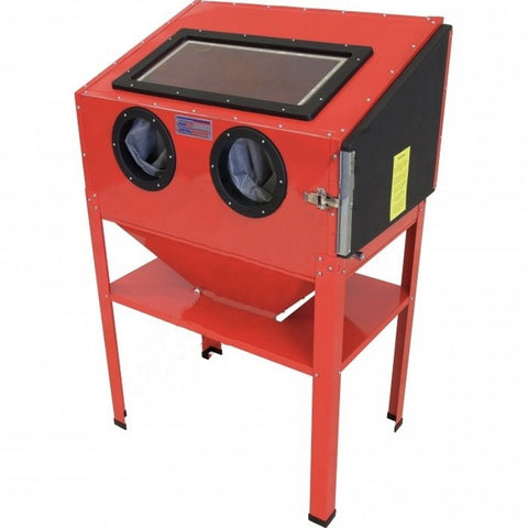 Millers Falls TWM Industrial Sandblast Cabinet with Gloves, Gun and