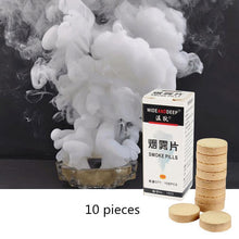 10 Pcs/Pack White Smoke Cake Effect Show Photography Aid Toy Divine Halloween Party Decoration Video Photo Shooting Props #E