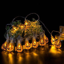 10 LED Hanging Halloween Decor Pumpkins/Ghost/Spider/Skull LED String Lights Lanterns Lamp For DIY Home Outdoor Party Supplies