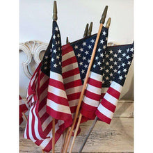 10 Vintage American Flags - 11 x 16 inches - Lot of Parade and Classroom Flags - Perfect for Decor or Crafts
