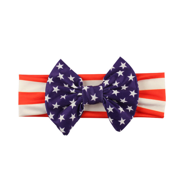 10pcs Girls 4th of July Headband For 2018 Independence Day Hair Accessories Kids Patriotic Hair Bows American Flag Hair Band