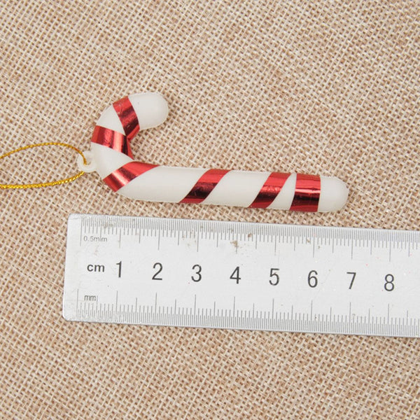 12 Pcs Christmas TREE Hanging Candy Cane Ornaments Festival Party Xmas Tree Decoration Christmas Decoration Supplies