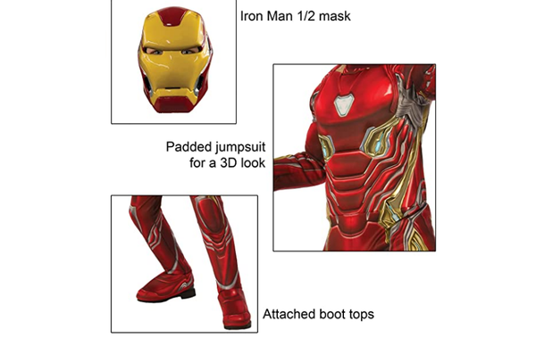 Iron  Movie Man Halloween Costume  for Men and Women - Cosplay Mask & Costumes for Carnaval