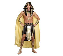 Mens King of Ancient Egypt King Tut Costume, Gold/Black costume Fancy cosplay Dress