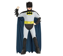 Boys Batman cosplay Costume for men adult Superhero Halloween Fantasia Carnival anime cosplay jumpsuit fancy dress for kids