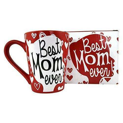 Amazon Prime Sale Day Price Cut - KINREX Mothers Day Gifts Tea and Coffee Mug - Best Mom Ever - 12 oz - Happy Day Gift for Women