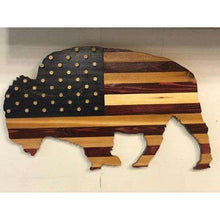 American Buffalo Bullet Flag Wall Art Bullet Flag, Bison
