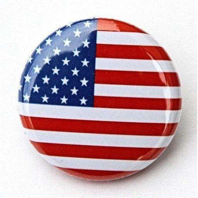 American Flag - Pinback Button Badge 1 inch