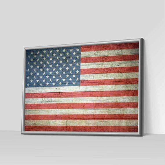 American Flag Art, Rustic American Flag, American Flag Art On Canvas, American Flag Art Print, Distressed American Flag, Flag Art, Patriotic