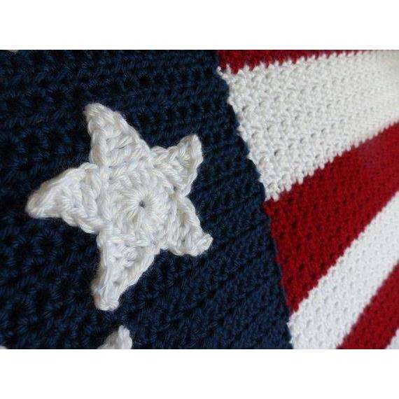 American Flag Blanket Crochet Pattern