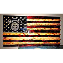 American Flag Challenge Coin Display