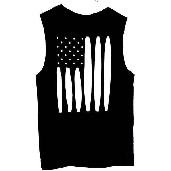 American Flag Cutout Tank Top / Patriotic Tank