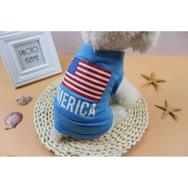 American Flag dog clothes for small dogs spring summer pet clothes summer dog clothes chihuahua roupa pet cachorro