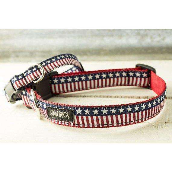 American Flag dog collar, Stars and Stripes