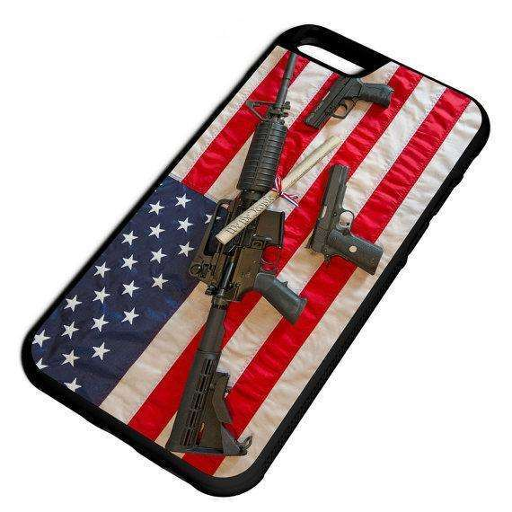 American Flag Guns Constituion iPhone Galaxy Note LG HTC Protective Hybrid Case