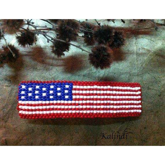 American flag Hair Clip, 4th of July hair bow, U.S. Flag Large barrette / American Flag barrette / Patriotic barrette/ USA barrette/Barrette