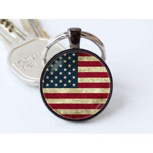 American flag keychain US flag key ring Patriotic jewelry Christmas gift Flag pendant USA flag keychain American key chain Stars and stripes