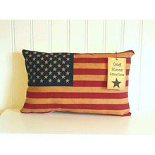 American Flag Pillow | 4th of July decorations | USA decor | Patriotic home decor | Primitive decor | Rustic Flag | Red White Blue