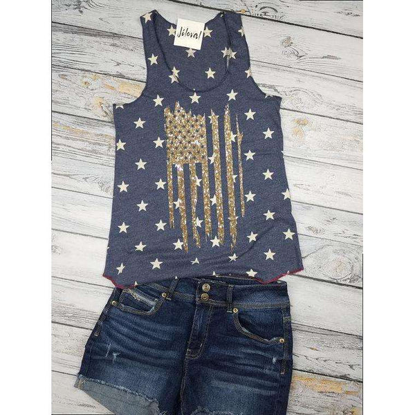 American Flag Shirt, Star Shirt, Americana Tank, Forth of July Shirt for woman, ladies tank top, Patriotic Tank top, Summer Concert Tank