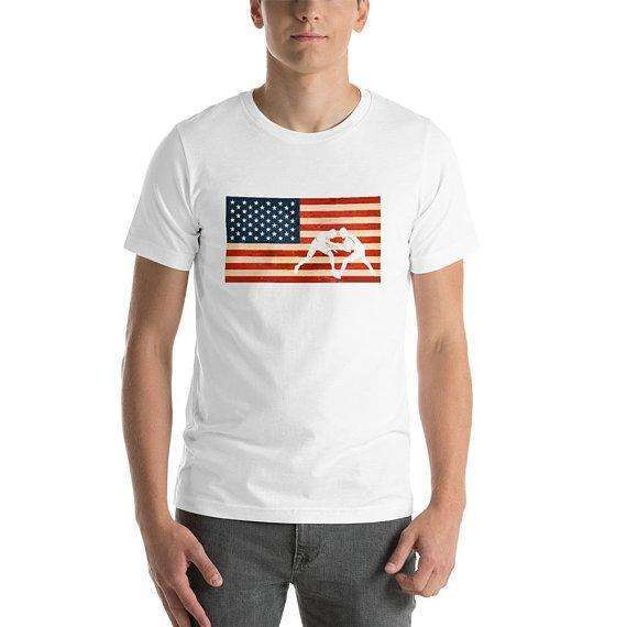 American Flag Wrestling Shirt, Wrestling Tee, Wrestling Gift, American Flag Shirt, Wrestling Lover Gift, 4th July Shirt, 4th July Gift, Gift