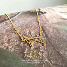 American hairless terrier, Dog Necklace, Origami Necklace, Gold plated necklace, Dog Memorial, Original design, Pet Lover, Pet gift