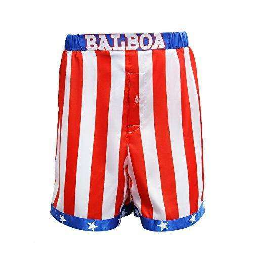 AMNPOLEN Adult Mens American Flag Boxing Satin Shorts Trunk Costume